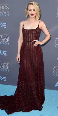 2016 Critics' Choice Awards: See the Unforgettable Red Carpet Looks! - Rachel McAdams  - from InStyle.com