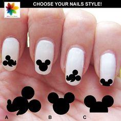 Mickey mouse Disney nail art cartoon 84  by Nailsgraphicworld, $6.90 Mickey Mouse Nail Art, Mickey Nails, Minnie, Disney Mickey, Love Nails, Pretty Nails, Nail Art Modele, Trendy Nail Art, Nagel Gel