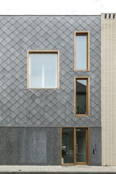 DENC!-STUDIO – Projecten – WEIDE Roof Design, Facade Design, House Design, Modern Exterior, Interior And Exterior, Metal Cladding, Architectural Shingles, Exterior Siding, Facade Architecture