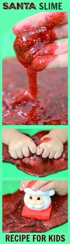 SANTA SLIME- so fun for kids & smells just like Christmas!