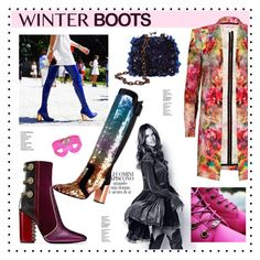 """""""Winter Boots"""" by hellodollface ❤ liked on Polyvore featuring Topshop, Timberland, Tory Burch, Lara Bohinc, Boots, winterboots and winteressentials"""
