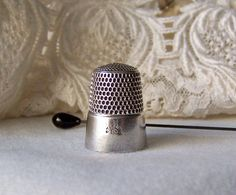 Vintage Sterling Silver Thimble Simon's Brothers by CynthiasAttic