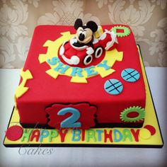 Mickey Mouse club house themed cake