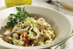 Chicken and Couscous Salad Couscous Salad, Food Categories, Spanakopita, Weight Watchers Meals, Cooking Time, Fried Rice, Potato Salad, Salads, Healthy Living