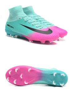 Nike Mercurial Superfly V FG Nouveaux Crampon de Foot - Bleu Rose Adidas Soccer Boots, Kids Soccer Shoes, Girls Soccer Cleats, Nike Football Boots, Nike Cleats, Cleats Shoes, Football Gear, Nike Soccer, Football Cleats