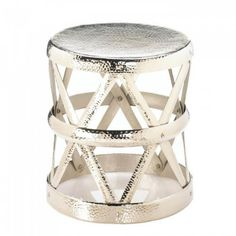 New Arrival: Hammered Drum Decorative Stool, You'll get a drum full of style when you add this glamorous stool to your decor!