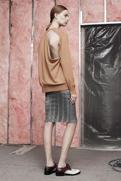 Alexander Wang | Pre-Fall 2014 Collection | Style.com  KT: Note length of skirt paired with the shoes.