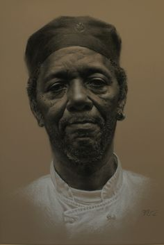 "Zimou Tan   ""George""  Charcoal pencil and willow charcoal on toned paper.   27 1/2""x 19 3/4"""