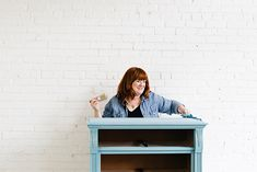 The Magic of Repainting Furniture with Waverly Inspirations Chalk Paint @waverlyhome @walmart #plaidcrafts