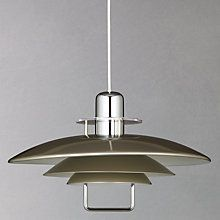 Buy John Lewis Felix Rise and Fall Ceiling Light, Satin Nickel Online at johnlewis.com