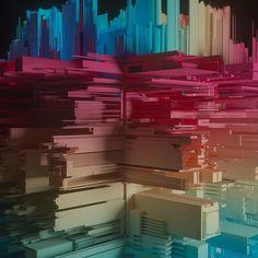 AEDA 94  | #abstract #digitalart #3dart #c4d #cinema4d #otoy #octane #beeple #displacement #creative #instaart  #rainbow #jdx_productions by jdx_productions