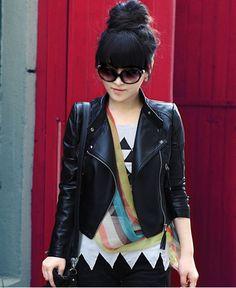 Nuevo estilo de la moda de cuero de la pu chaqueta de las mujeres 2013! Ropa de color negro, el otoño/outwear en de en Aliexpress.com | Alibaba Group