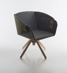 Stockholm chair is two chairs in one – a lounge chair and a dining chair.