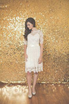 shimmery gold backdrop!