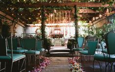 Whimsical ceremony space | Photo by Kate Edwards Weddings
