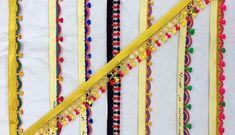 Ready to Stitch Tassel Laces from Krishne. Saree Tassels Designs, Saree Kuchu Designs, Blouse Designs, Embroidery Works, Hand Embroidery, Saree Wedding, Indian Bridal, Saree Blouse, Stitch