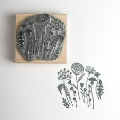 Wild Flower Silhouette Stamp...What about making giant stamps to stamp the outside of your house or fence with?