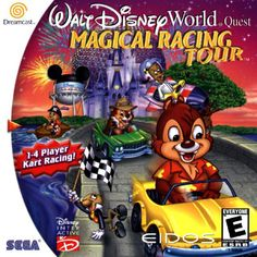 Walt Disney World Quest - Magical Racing Tour, Sega Dreamcast (also GBC and PSX), Eidos Interactive/Crystal Dynamics, This needs to be remade with present-day Disney characters, Disney World Theme Parks, Walt Disney World, Circus Game, Arcade, Super Nintendo Games, I Love Games, Kart Racing, Sega Dreamcast, Space Mountain