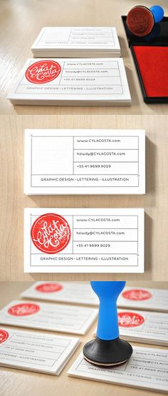 Cyla Costa Personal Stamp Card Business Cards Designed by Cyla Costa