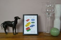Framed Vintage Lego Block Coloured Patent Art by Brunswickvintage