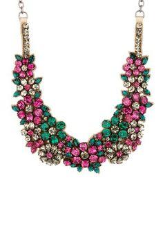 Valentino Multicolor Flower Bib Necklace by MSA Haute Couture Inc. on @HauteLook