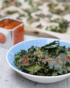 Chipotle Kale Chips! I've only tried them salted and they're so healthy and incredibly addictive. Need to try this recipe.