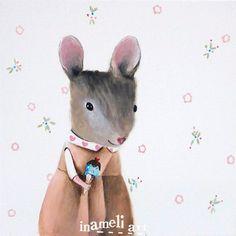 children's wall art, mouse