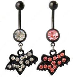 Fox Head Racing Pink Rhinestone Belly Button Ring Body Jewelry | eBay