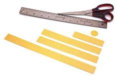 Paper Strips Angel Ornament step 1 cut shapes