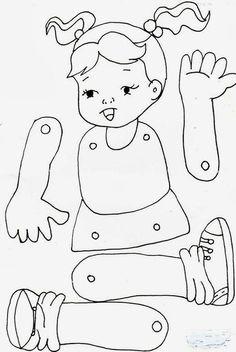 Jardín Actividades E Ideas, Actividades Ideas - Diy Crafts - maallure Body Parts Preschool Activities, Preschool Body Theme, Preschool Worksheets, Preschool Crafts, Toddler Activities, Crafts For Kids, Diy Crafts, Toddler Learning, Teaching Kids