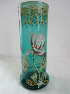 Vase Émaillé Legras Couleur Turquoise Frise DE Cerises | eBay