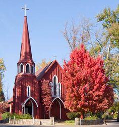 Historic Red Church Sonora Tuolumne, St. James, Sonora, CA