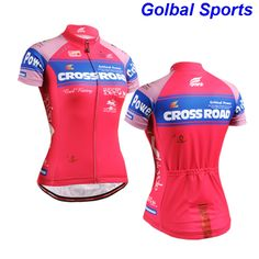 2017 new women's pink cycling jersey classic bicycle shirt girl's unique riding apparel /garments #Affiliate