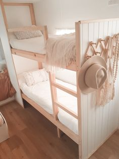 How to build bunk beds for your caravan — The Casa Collective. Caravan Bunk Beds, Diy Caravan, Bunk Beds Built In, Caravan Renovation, Rv Makeover, Toddler Bed, Viscount, Building, Project Ideas