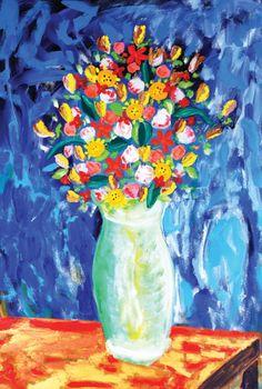 Vaso de flores, 2005 Augusto Herkenhoff (Brasil, 1965) óleo sobre tela, 180 x 121 cm
