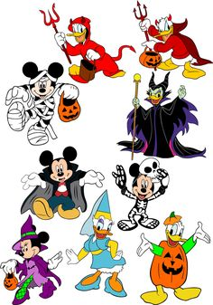 Disney Halloween Parties, Mickey Halloween, Halloween Clipart, Halloween Cards, Fall Halloween, Jack Skellington Head, Kids Graphics, Cute Disney Drawings, Halloween Drawings