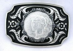 WESTERN RODEO EQUESTRIAN ROSE COWGIRL PATINA TROPHY BELT BUCKLE WOMEN/'S VINTAGE