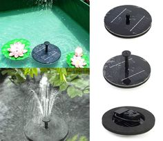 HRJ  P  0014 Floating Solar Light Water Fountain Lake Garden Stake