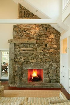 Lew French fireplace - rustic and fabulous