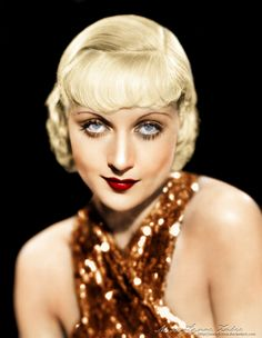 A color picture of Carole Lombard's blue eyes.  She became the future Mrs. Clark Gable.  found on:   Superheat Carole Lombard  Superheat