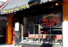 Monk's Cafe and Beer Emporium in Philadelphia. Great beer selection, great atmosphere.