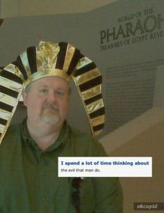 online sex is evil, King Tut?