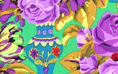 Kaffe Fassett - Kirman - Green Floral - Quilt Fabric