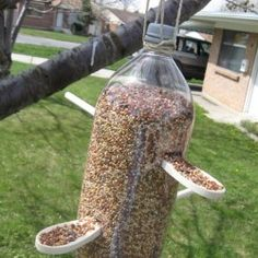 lovely little upcycled bird feeder