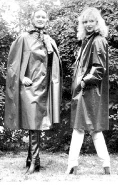 Vintage rubber cape and mackintosh
