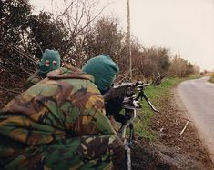An Active Service Unit of the Irish Republican Army sets up a vehicle-checkpoint, North of Ireland, 1994 Northern Ireland Troubles, Irish Republican Army, The Ira, Erin Go Bragh, Acne Face Mask, Irish Eyes, Fighting Irish, Freedom Fighters, Military History