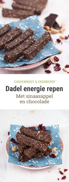Easy Cake : Date bars with chocolate, orange and cranberry - healthy snack, Healthy Sugar, Healthy Sweets, Healthy Baking, Healthy Snacks, Sweet Desserts, Dessert Recipes, Healthy Diners, Tasty, Yummy Food