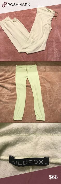 Wildfox Lime Green Sweatpants/Joggers NWOT Brand new never worn. Has piling like most wildfox pieces . Super soft and  lightweight Wildfox Pants Track Pants & Joggers