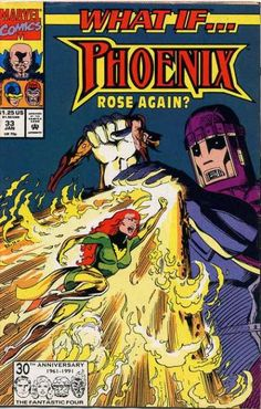 What If? 33 - Phoenix - Flames - Marvel Comics - Flying - Giant
