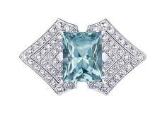 Anillo Genesis Acte V Louis Vuitton con un berilio con corte esmeralda y diamantes en brillante